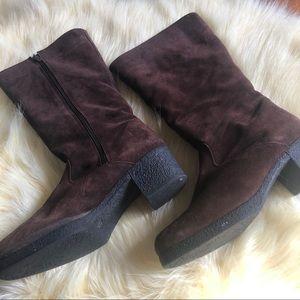 Aquatalia brown suede boots vintage size 9